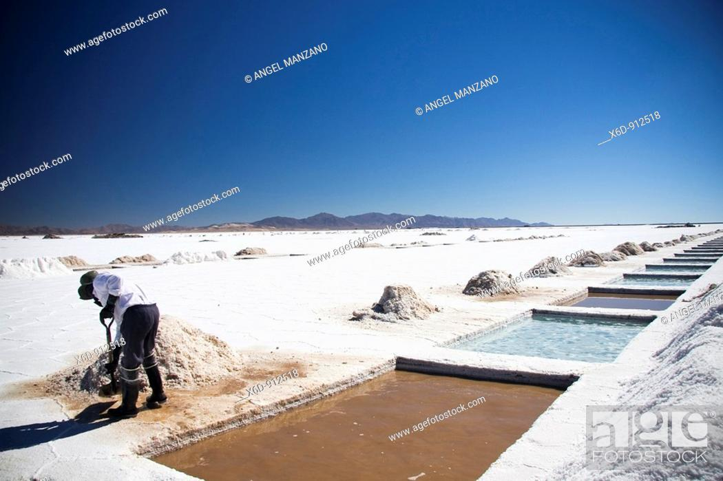 Stock Photo: Great salt lake, Jujuy, Argentine.
