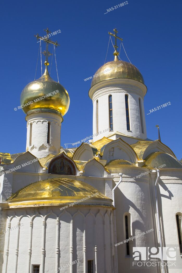 Photo de stock: Holy Trinity Cathedral, The Holy Trinity Saint Serguis Lavra, UNESCO World Heritage Site, Sergiev Posad, Golden Ring, Russia.