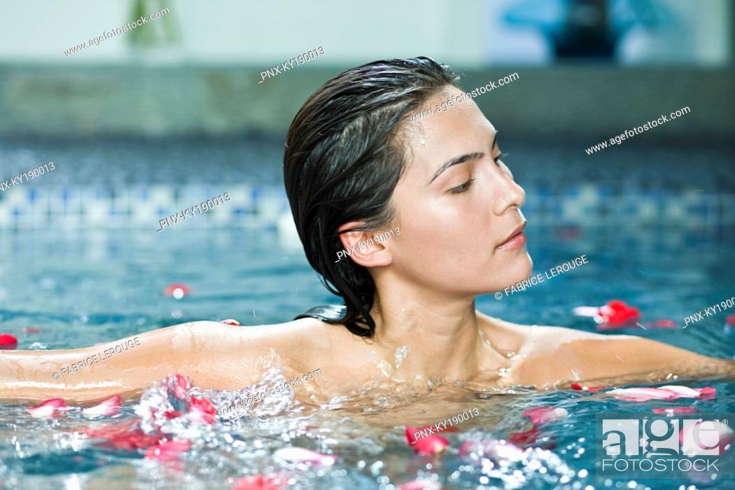 Stock Photo: Woman taking a spa treatment.
