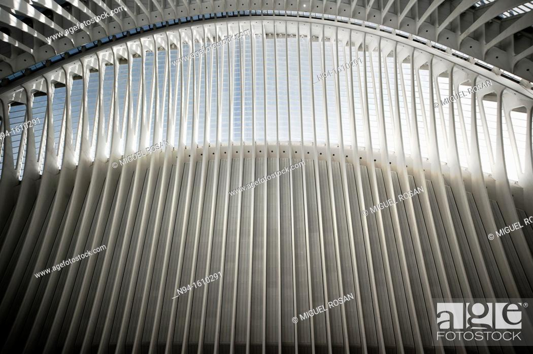 Stock Photo: Interior view of the Agora building's roof of the City of Arts and Sciences of Valencia, Valencia, Spain.