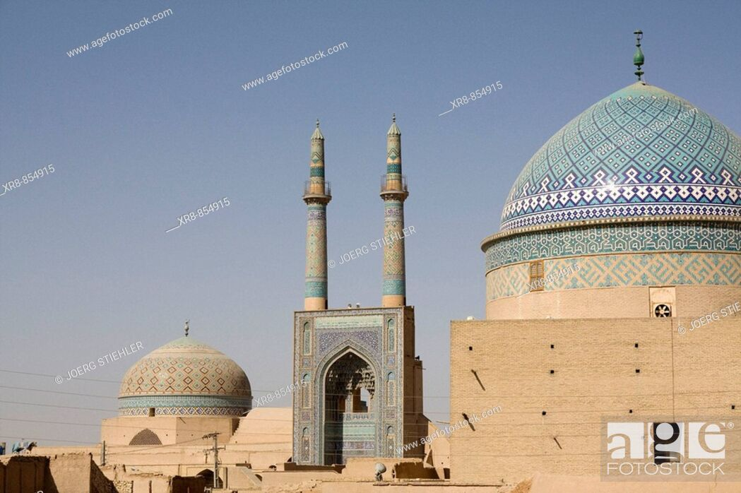 Stock Photo: Iran Yazd Friday Mosque Rukn ad-Din Tomb.