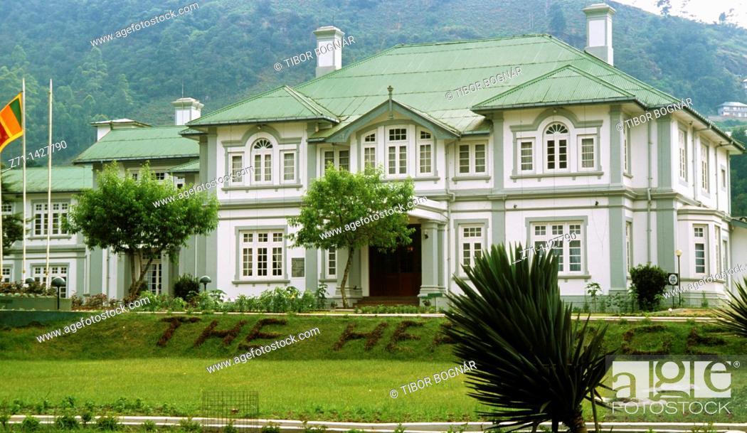 Sri Lanka Nuwara Eliya British Colonial Architecture Stock Photo