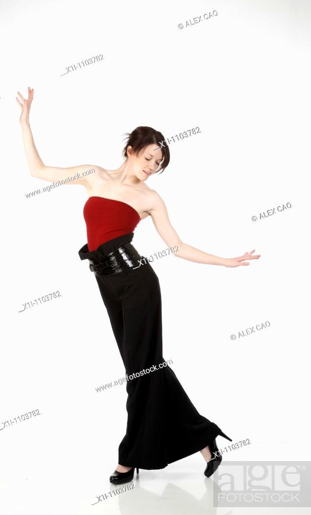 Stock Photo: Elegant woman.