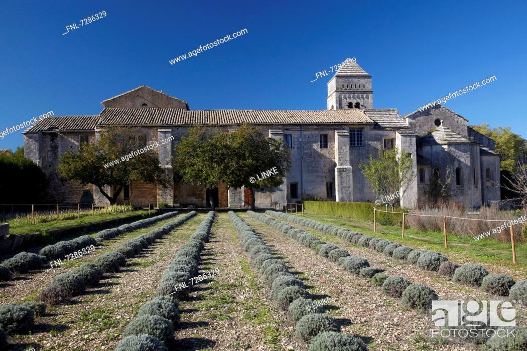 Stock Photo: Sanatorium in Saint-Rémy-de-Provence, in which van Gogh was treated, France.
