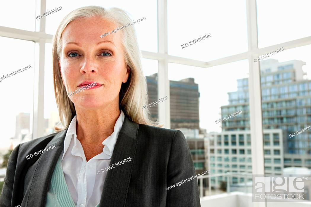 Stock Photo: Mature businesswoman, portrait.