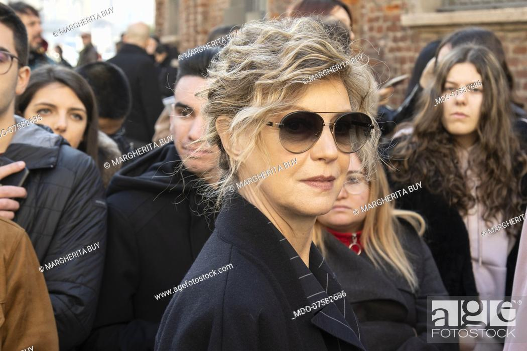 Actress Margherita Buy At Milan Fashion Week Milan Italy February 22nd 2020 Stock Photo Picture And Rights Managed Image Pic Mdo 07582686 Agefotostock