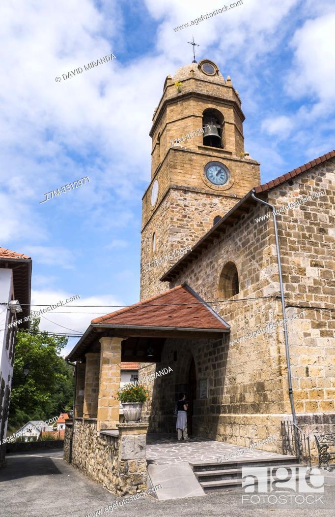 Stock Photo: Iglesia de Jaurrieta. Navarra. España.