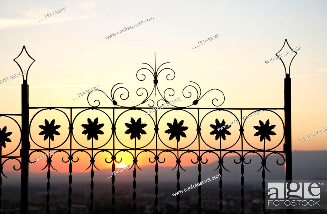 Stock Photo: Grilles at sunset. Granada, Andalucía, Spain.