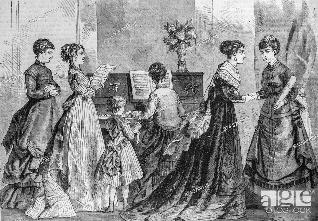 Photo de stock: fashion of the season, the illustrated universe, publisher michel levy 1868.