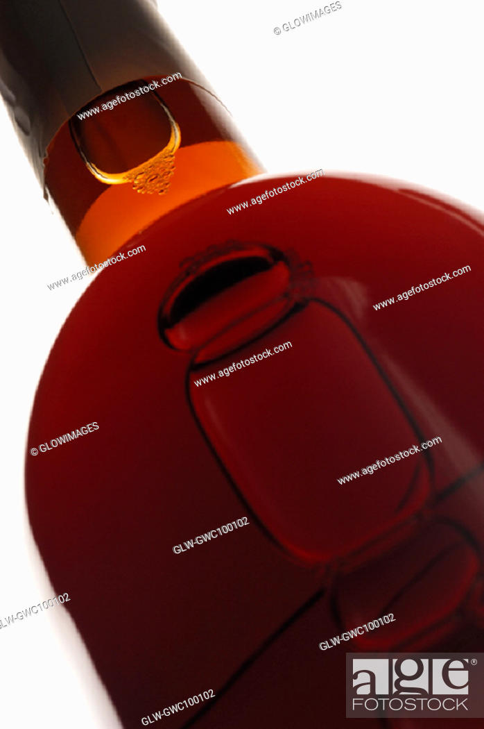 Stock Photo: Close-up of a wine bottle.