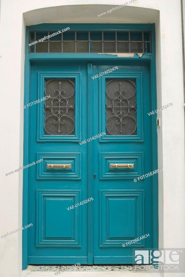 Stock Photo: Blue, Brass, Closed, Close-Up, Day.