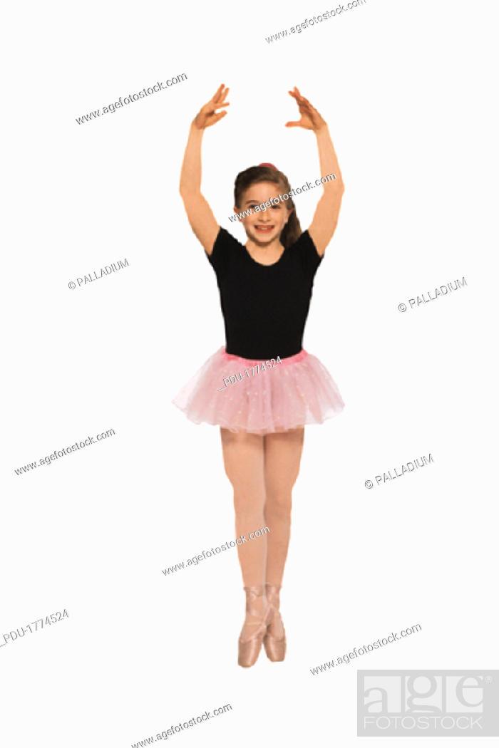 Stock Photo: Young girl - ballerina, portrait.