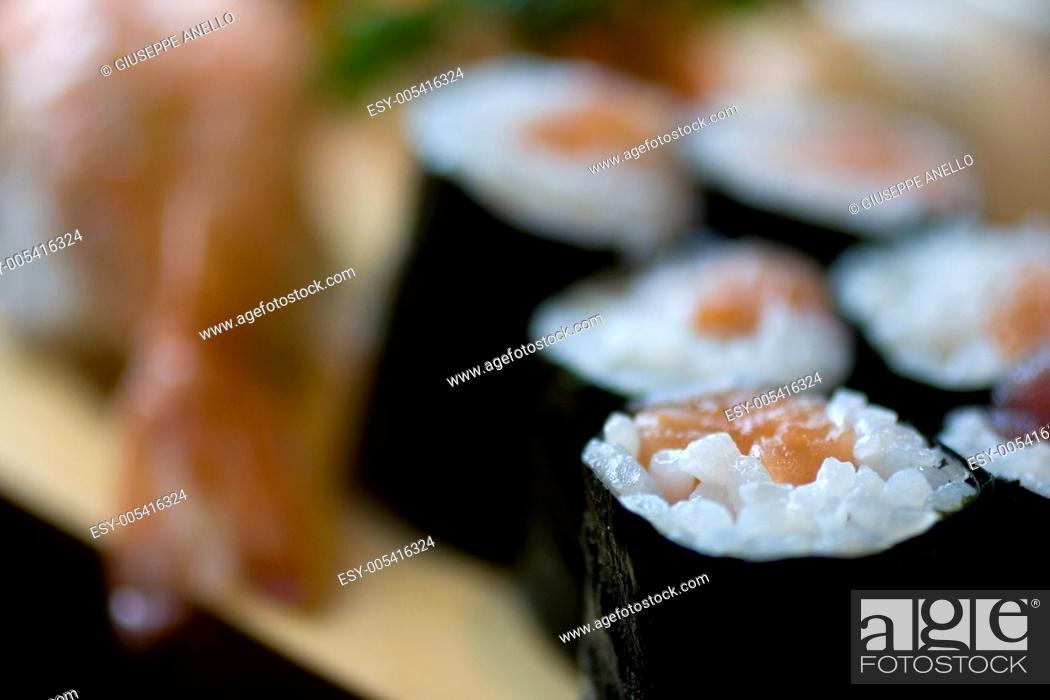 Stock Photo: Sushi.