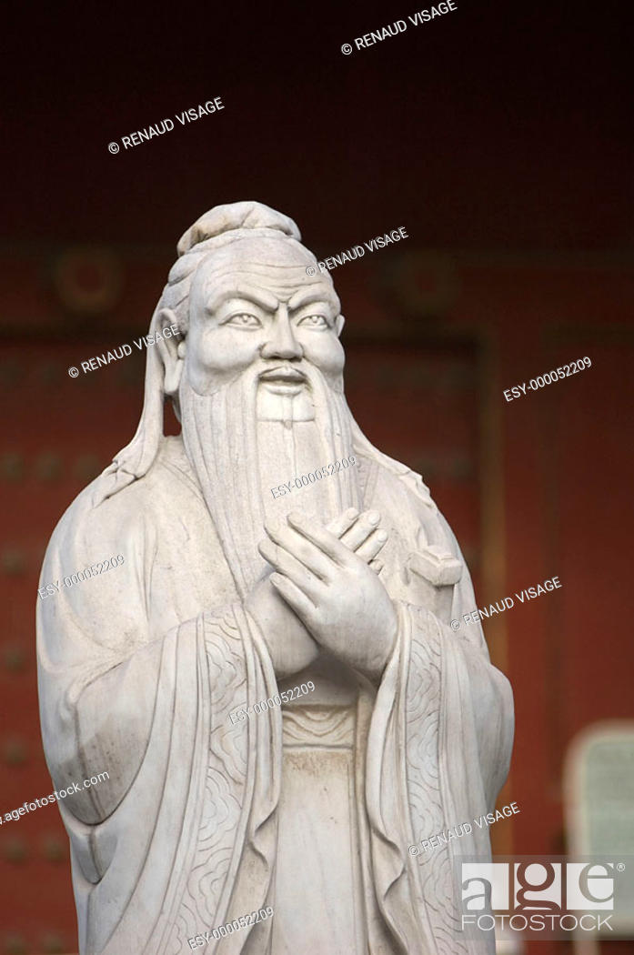 Stock Photo: Statue of Confucius at the Confucian Temple. Beijing. China.