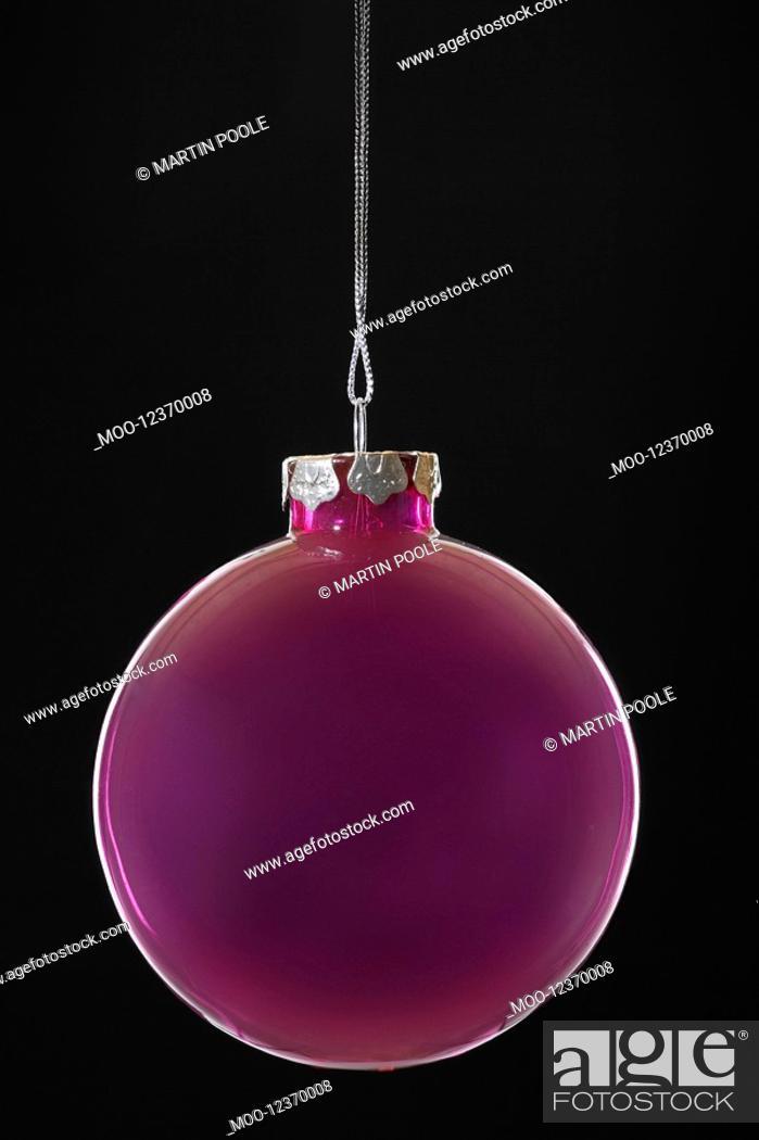 Stock Photo: Purple Christmas bauble close-up.