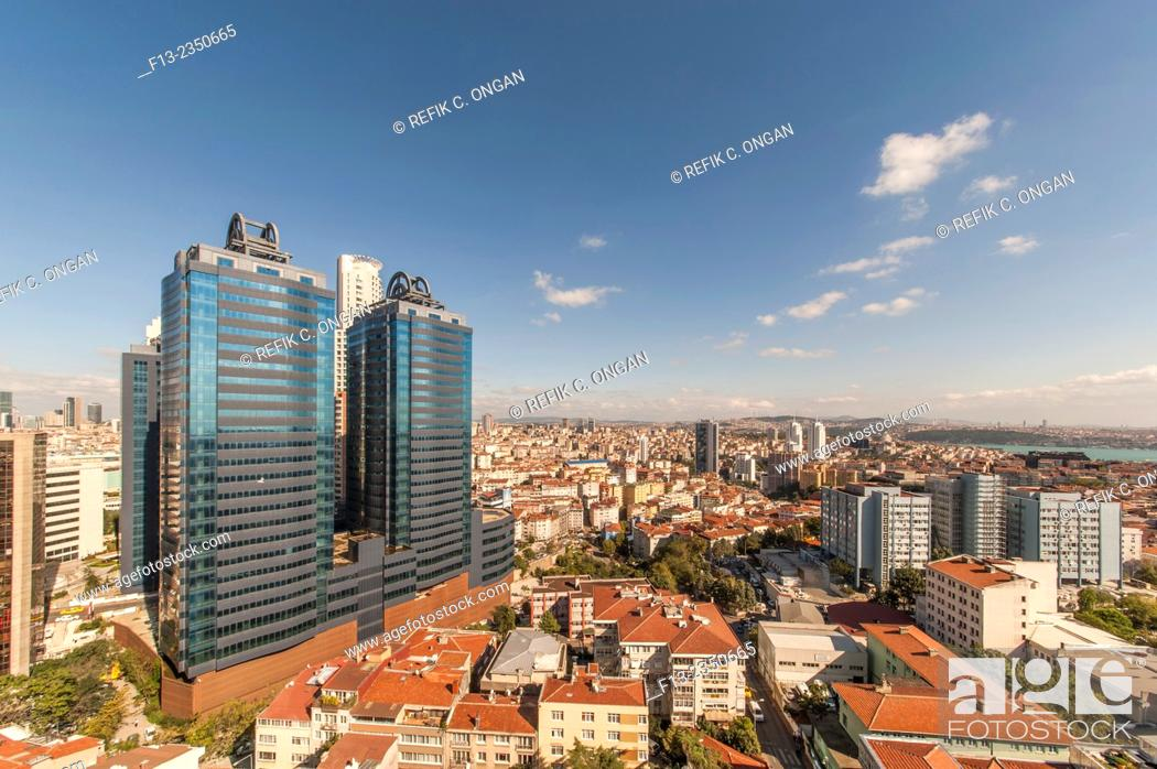 Stock Photo: new office center in Istanbul.