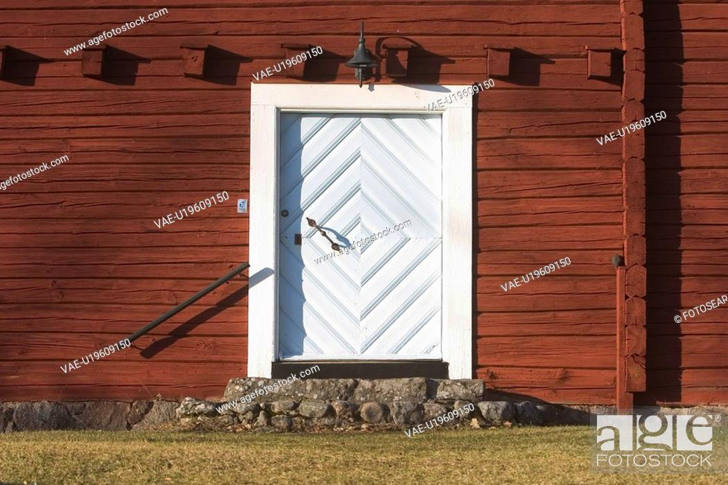 Stock Photo: entrance, exit, wood, wooden, metal, close-up.