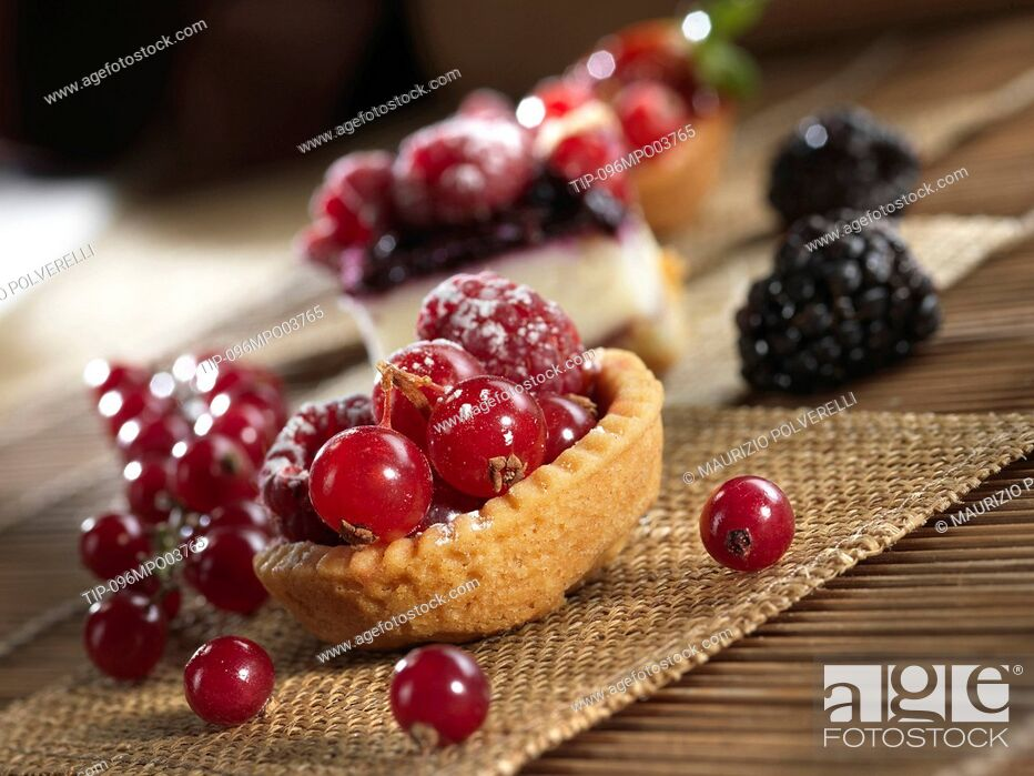 Stock Photo: Pastries with berries.