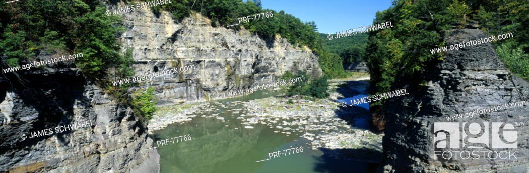 Stock Photo: Genesee River NY.