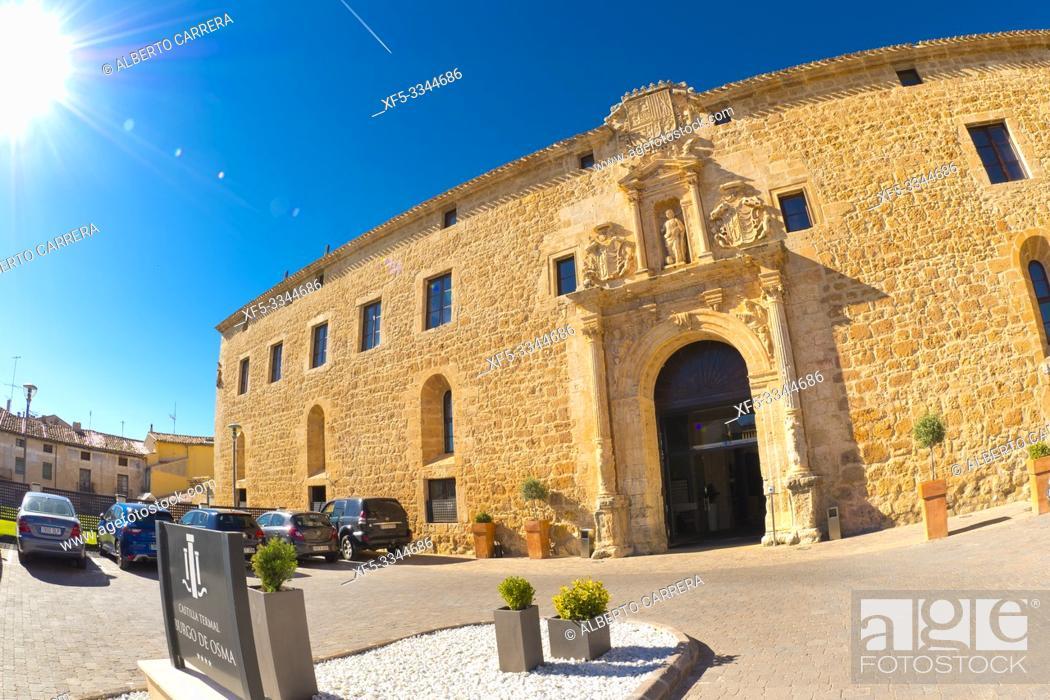 Stock Photo: Castilla Termal Luxury Hotel, Pontifical and Royal University of St. Catherine, 16th century Plateresque Style, El Burgo de Osma, Soria, Castilla y León, Spain.