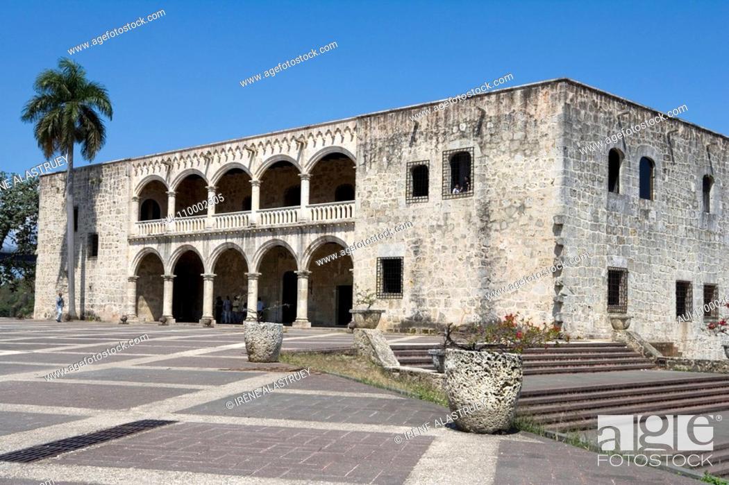 Stock Photo: Dominican Republic - Santo Domingo - Colonial Zone - Alcázar de Colón.