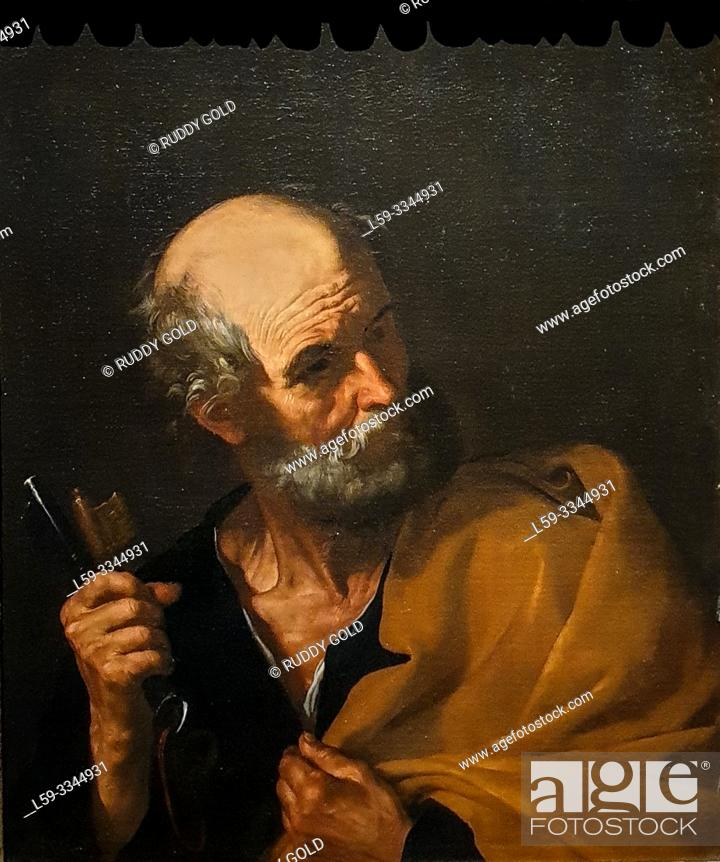 Photo de stock: 'Saint Peter', 1616/20, Jusepe de Ribera (1591-1652).