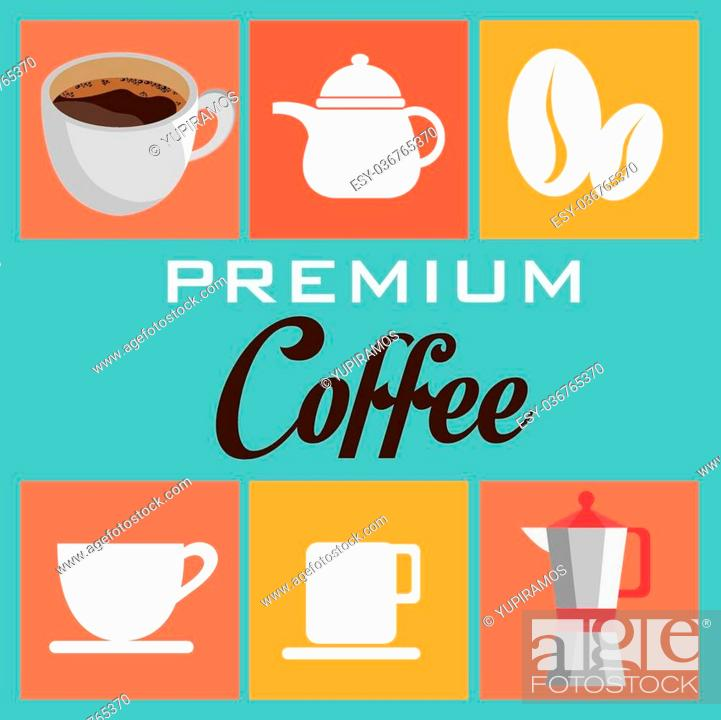 Stock Vector: delicious coffee design, vector illustration eps10 graphic.