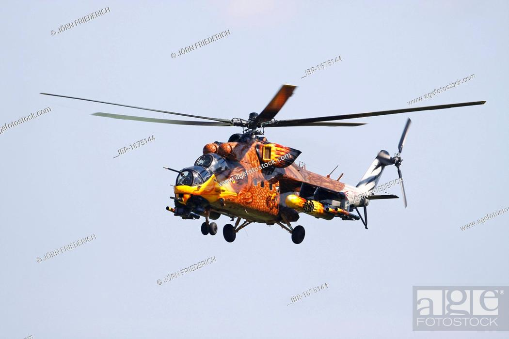 MIL MI-24 Hind, Russian attack helicopter from the Hungarian Air