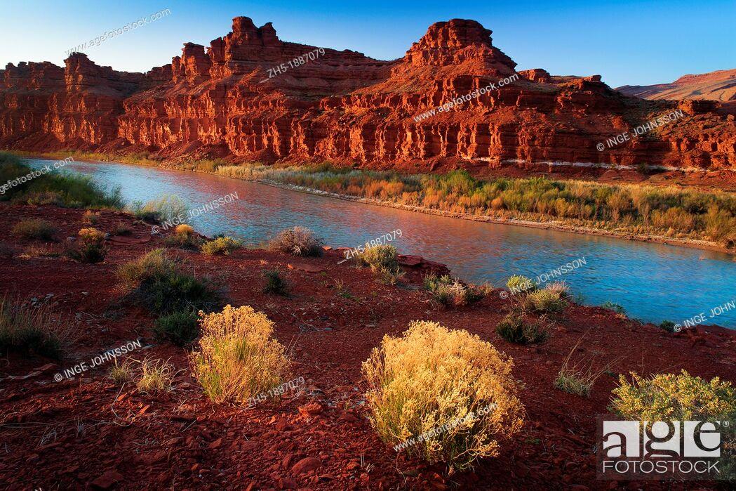 Stock Photo: San Juan River at Mexican Hat, Utah.