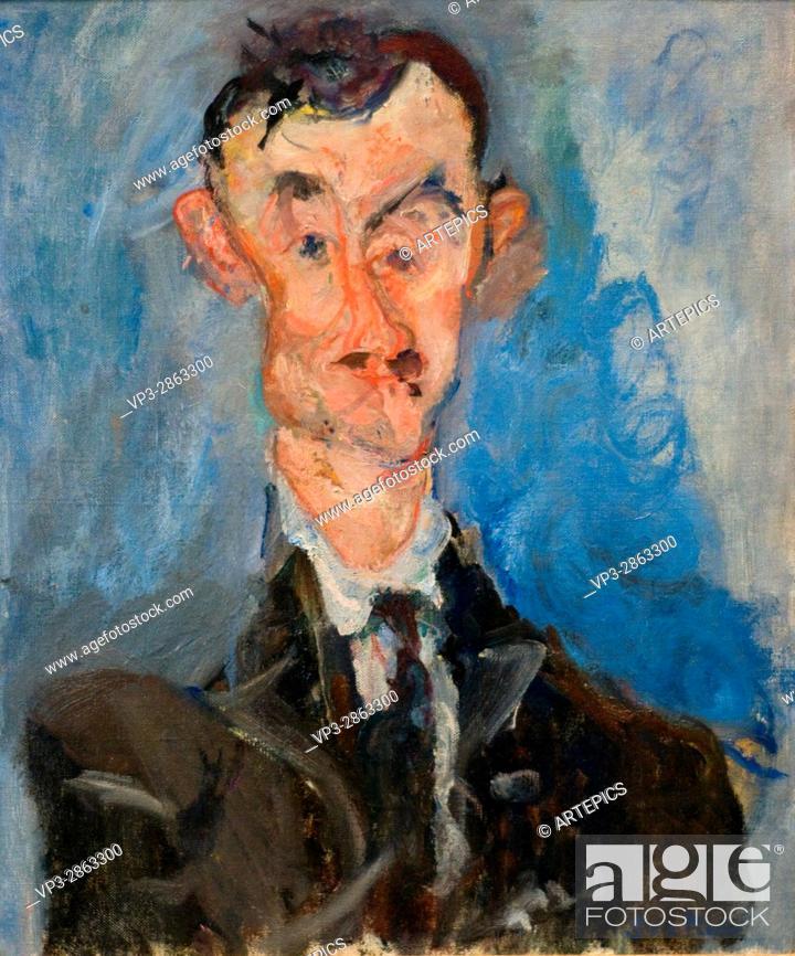 Stock Photo: Chaïm Soutine. Portrait d'homme (Emile Lejeune. 1922. XX th Century. Paris Orangerie Museum.