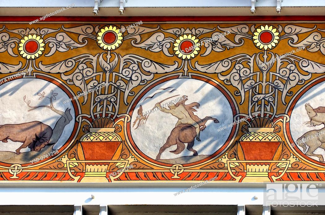 Stock Photo: Art Nouveau facade, Albert Ciamberlani house built in 1897 by architect Paul Hankar, Rue Defacqz 48, Brussels, Bruxelles, Belgium, Europe.