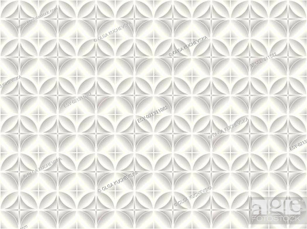 Stock Vector: white tile.