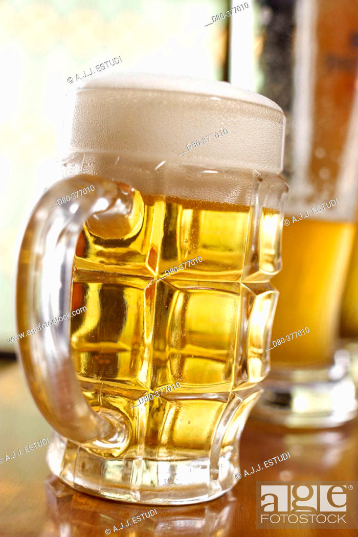 Stock Photo: Beer jar.