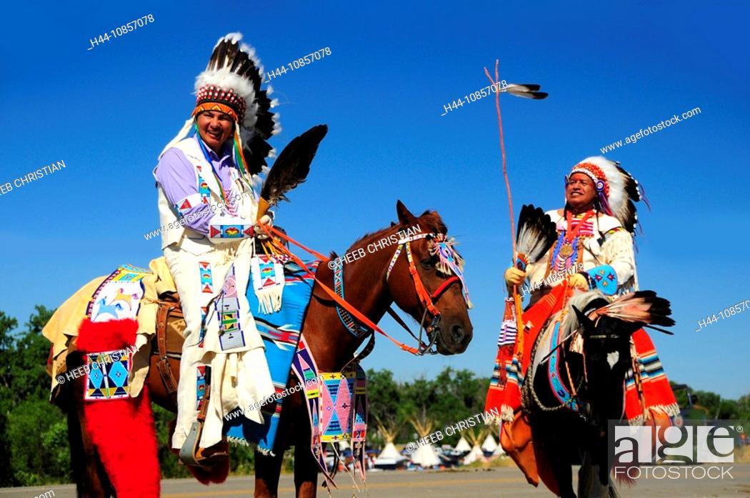 Stock Photo: 10857078, USA, Crow Fair Indian Pow Wow, Crow Agen.