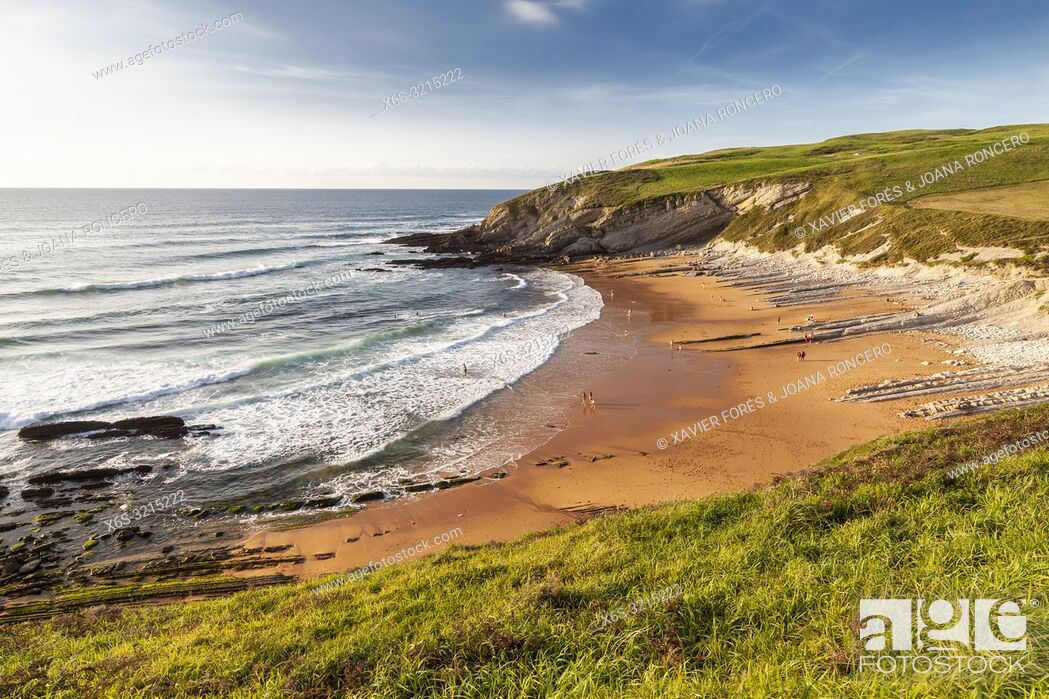 Stock Photo: Tagle beach, Tagle, Cantabria, Spain.