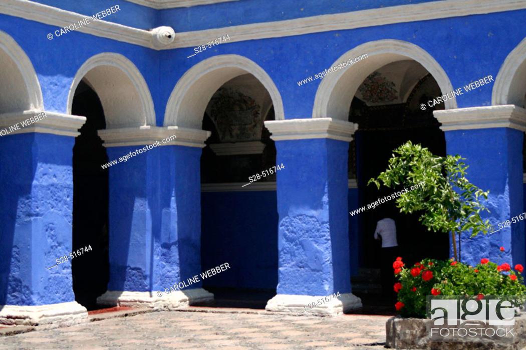 Stock Photo: Santa Catalina Monastery, Peru.