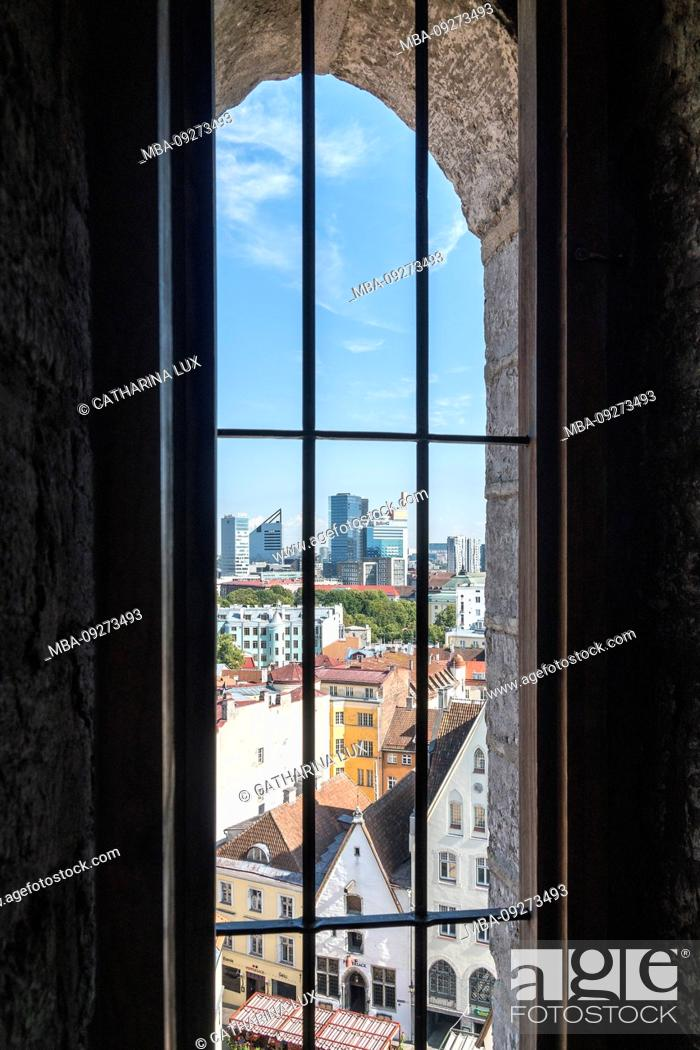 Stock Photo: Estonia, Tallinn, view from the town hall tower in the direction of the old town and Neustadt.