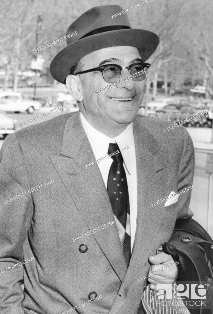 Stock Photo: Vito Genovese, 61, as he arrived at court to be sentenced to 15 years in jail and fined $20,000. April 17, 1959. Two weeks earlier he was convicted April 3.