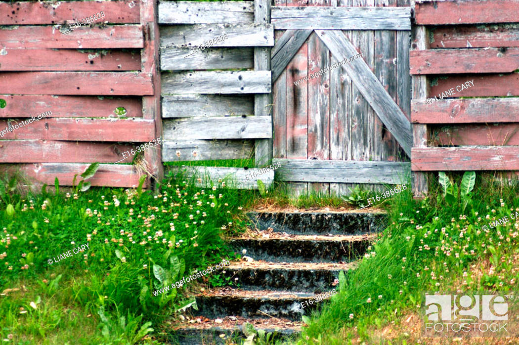 Stock Photo: cabin steps.