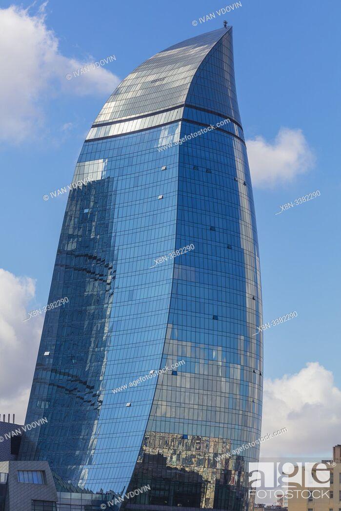 Photo de stock: Flame Towers skyscrapers, 2013, Baku, Azerbaijan.