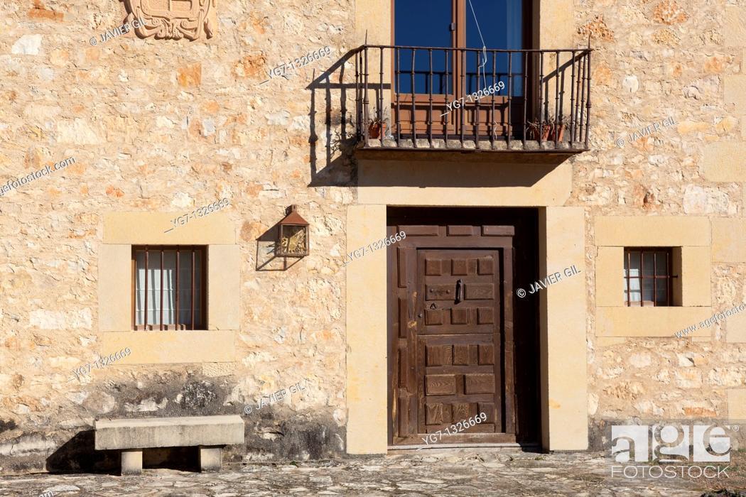 Stock Photo: Street of Pedraza, Segovia, Castilla y Leon, Spain.