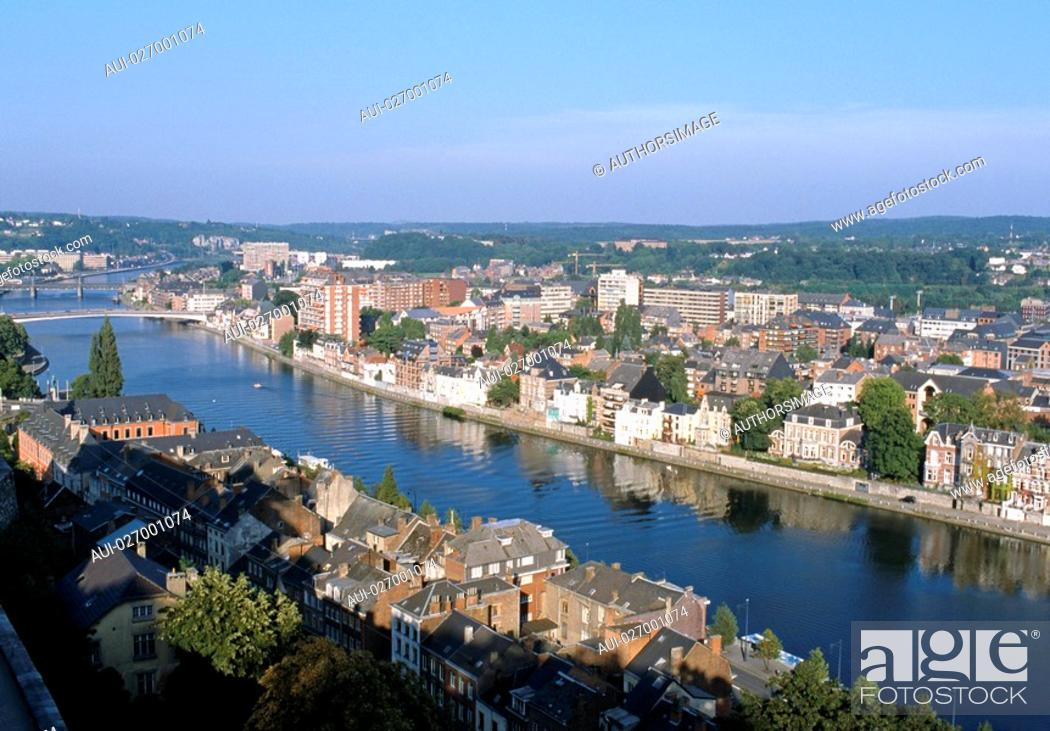 Stock Photo: Belgium - Wallonie - Namur - La Meuse.