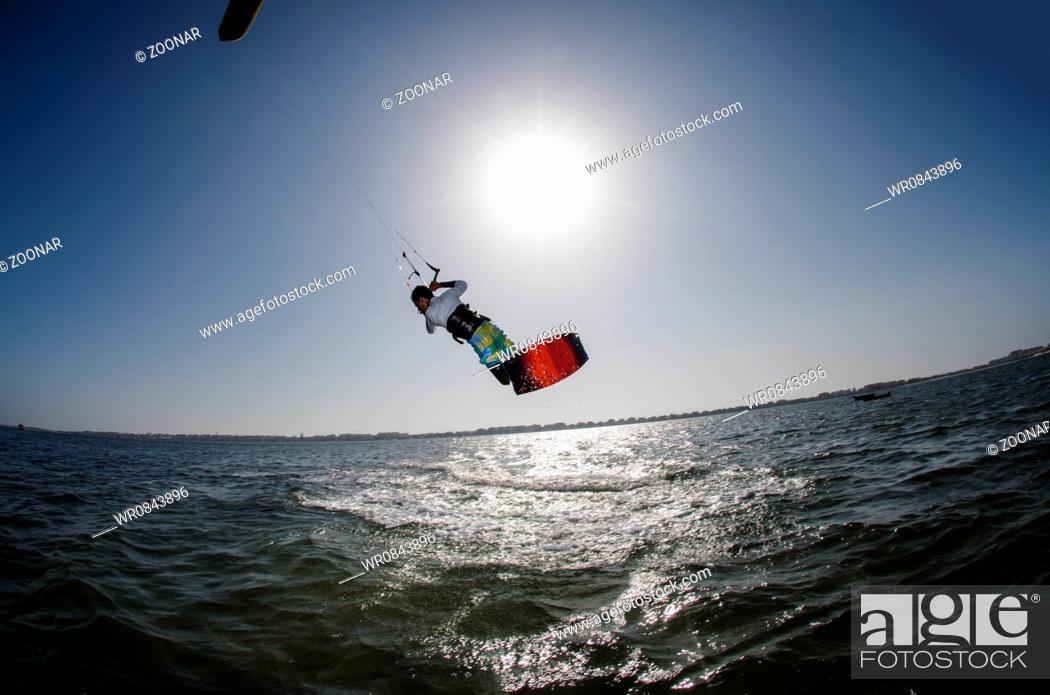 Stock Photo: Kite Surfer.