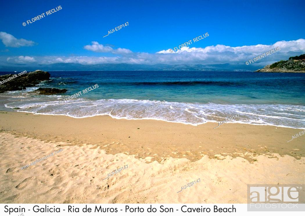 Stock Photo: Spain - Galicia - Ria de Muros - Porto do Son - Caveiro Beach Spain.