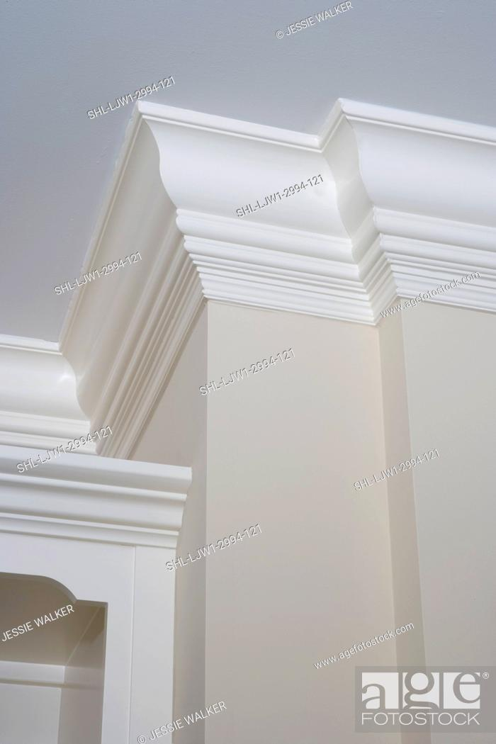 White Painted Crown Molding