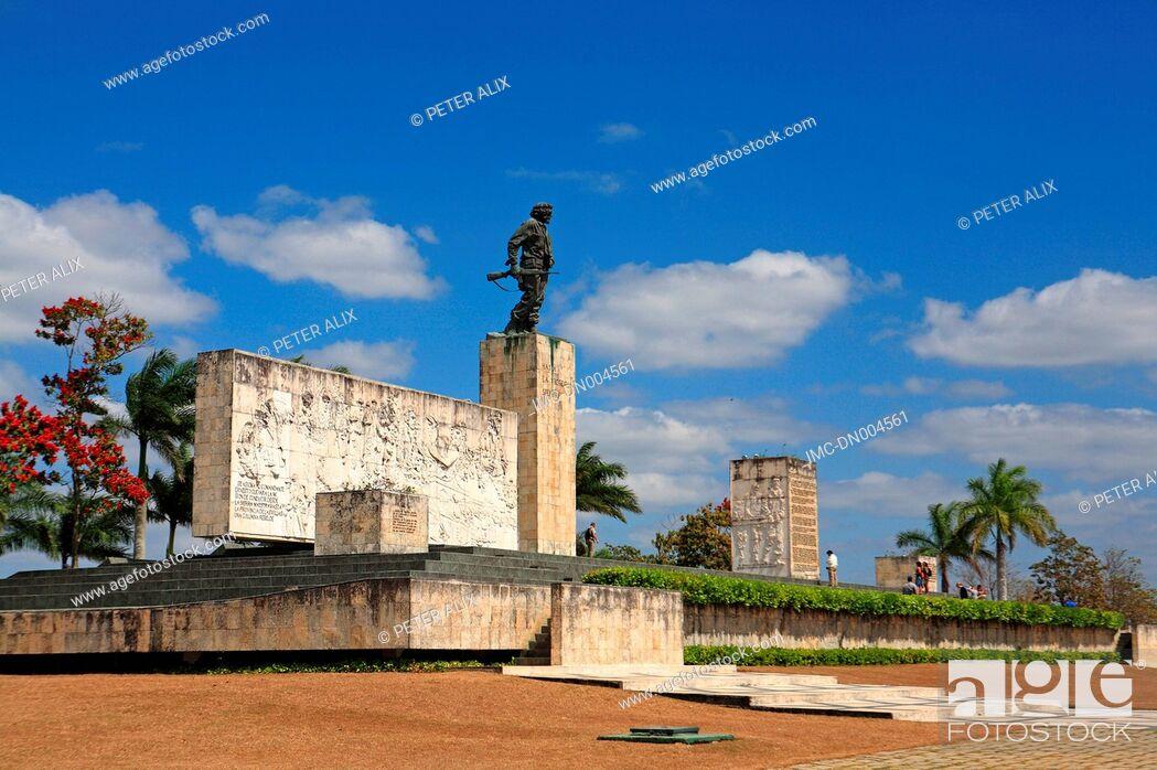 Stock Photo: Cuba, Santa Clara, memorial of Che Guevarra.