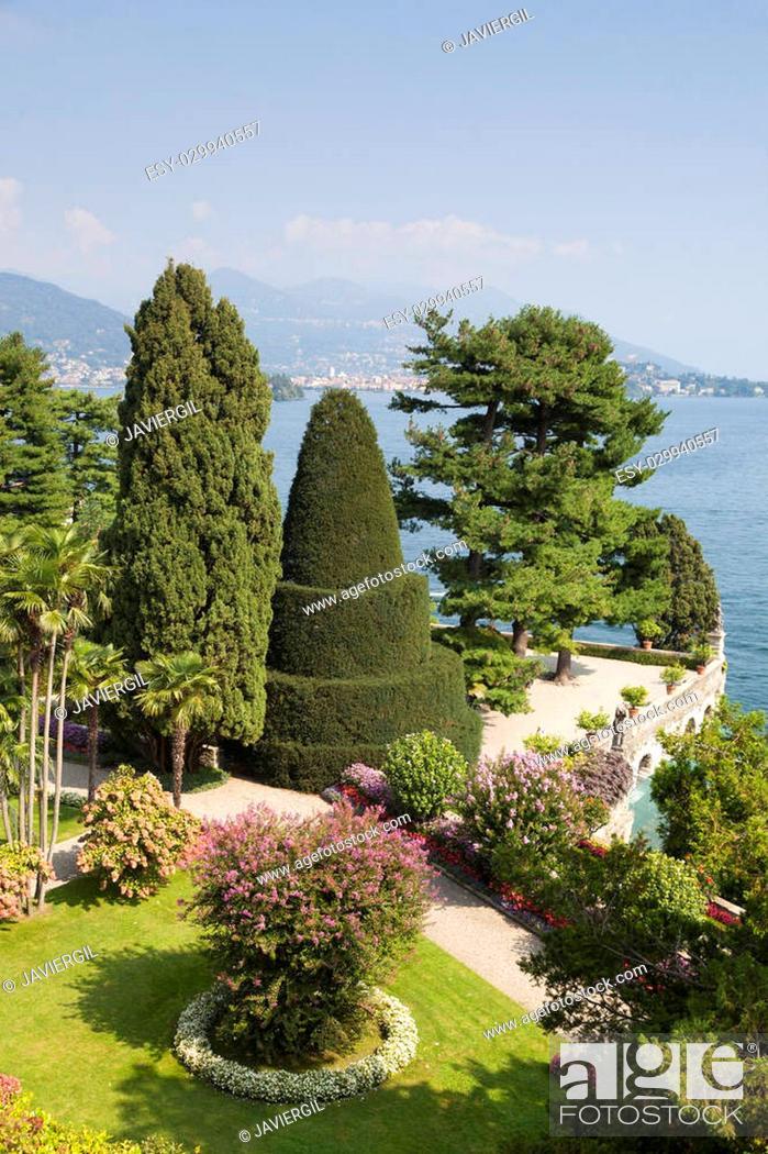 Stock Photo: Isola Bella, Borromean Islands, Lake Maggiore, Piedmont, Italy.