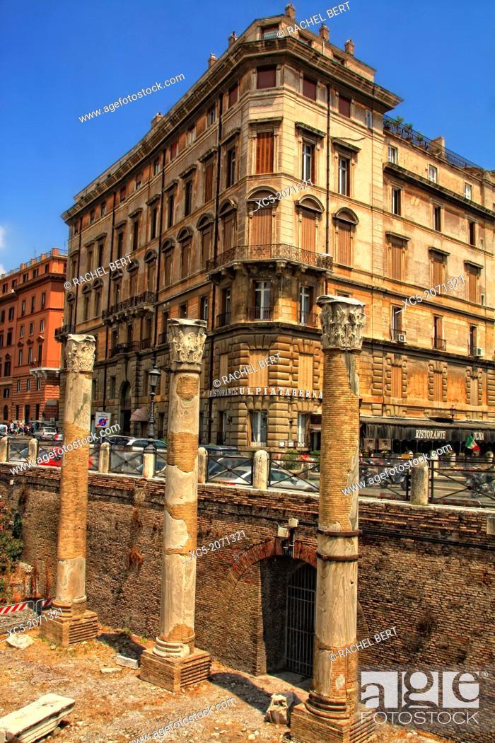 Stock Photo: Trajanus Forum, Rome, Italy.