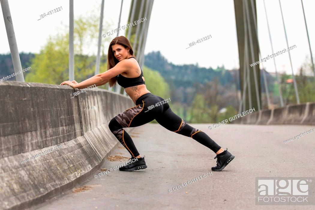 Stock Photo: Young woman in sporty outfit.