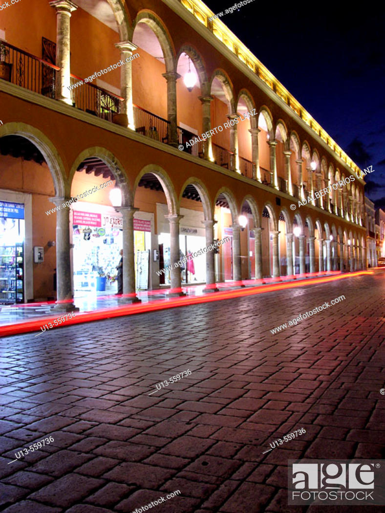 Stock Photo: Campeche old town. World Heritage. Mexico.